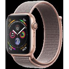 Apple Watch Series 4, 40 мм, корпус из алюминия золотого цвета, спортивный браслет цвета «розовый песок»