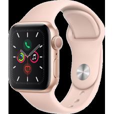 Часы Apple Watch Series 5, 40 мм, корпус из алюминия золотого цвета, спортивный браслет цвета «розовый песок»