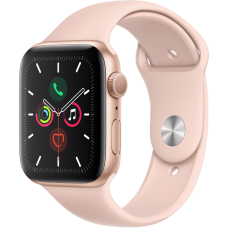Часы Apple Watch Series 5, 44 мм, корпус из алюминия золотого цвета, спортивный браслет цвета «розовый песок»