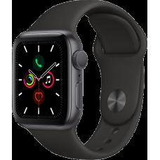 Часы Apple Watch Series 5, 40 мм, корпус из алюминия цвета «серый космос», спортивный браслет чёрного цвета