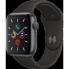 Часы Apple Watch Series 5, 44 мм, корпус из алюминия цвета «серый космос», спортивный браслет чёрного цвета