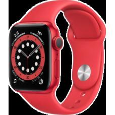 Apple Watch Series 6, 40 мм, корпус из алюминия цвета (PRODUCT)RED, спортивный ремешок красного цвета