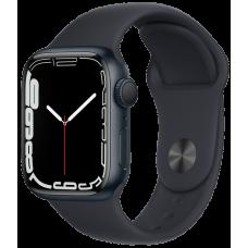 Apple Watch Series 7, 41 мм, корпус из алюминия цвета «тёмная ночь», спортивный ремешок «тёмная ночь»