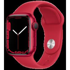 Apple Watch Series 7, 41 мм, корпус из алюминия красного цвета, спортивный ремешок (PRODUCT)RED