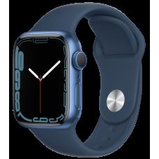 Apple Watch Series 7, 41 мм, корпус из алюминия синего цвета, спортивный ремешок «синий омут»