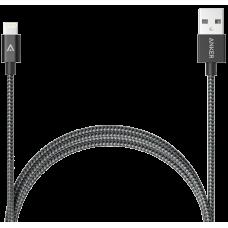 Кабель Anker USB-Lightning MFi, 0,9 м, капрон, 4000+ перегибов, A7136H11 (ритейл). Черный