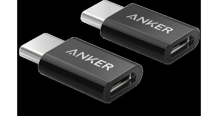 Переходник с USB-С на микро USB мама, 2 шт в комплект Anker B8174011