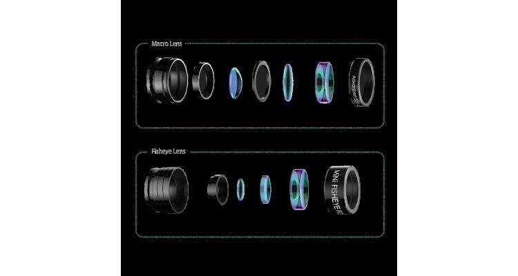 Объектив AUKEY PL-A2 Fisheye + 20X Macro 2 in 1 Lens (mini ) (ритейл)