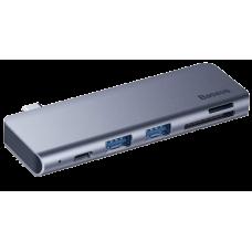 USB-концентратор Baseus Type-C to USB3.0x2/SD/TF/Type-C PD (CAHUB-K0G) для MacBook Pro