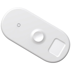Беспроводная зарядка для телефона и Apple Watch/Pods быстрая Baseus Smart 3in1 - Белая (WX3IN1-02)