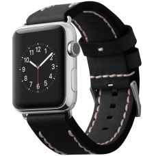 Ремешок Cozistyle Leather Band for Apple Watch 42mm Black CLB010