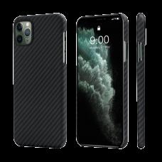 Карбоновый (Кевлар) Чехол Pitaka MagCase Для IPhone 11 Pro Черно-Серый В Полоску