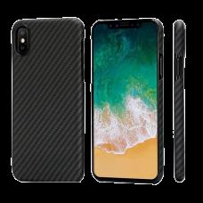 Карбоновый (Кевлар) Чехол Pitaka MagCase Для IPhone X (10) Черно-Серый В Полоску