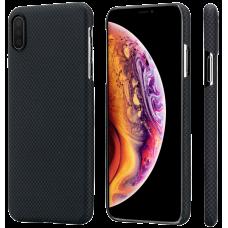 Чехол PITAKA MagCase Для IPhone Xs Max Черно-Серый Шахматное Плетение