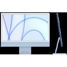 "iMac 24"" Retina 4,5K, M1 (8C CPU, 7C GPU), 8 ГБ, 256 ГБ SSD, синий"