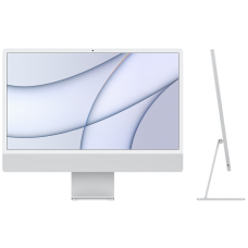 "iMac 24"" Retina 4,5K, M1 (8C CPU, 7C GPU), 8 ГБ, 256 ГБ SSD, серебристый"