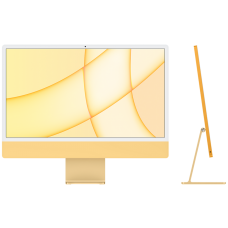 "iMac 24"" Retina 4,5K, M1 (8C CPU, 8C GPU), 8 ГБ, 256 ГБ SSD, жёлтый"